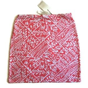 Tommy Bahama Coral Patchwork Skirt Women's 4/6